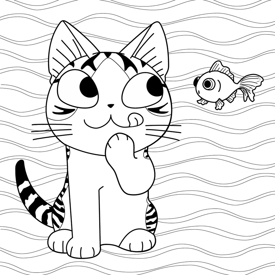 chi coloring pages | Vertical Comics
